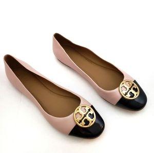 Tory Burch Chelsea Cap-Toe Ballet Flats Size 10